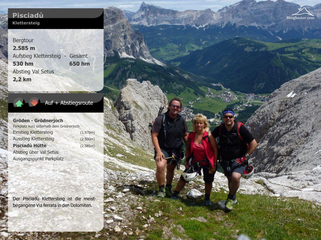 Klettersteig Pisciadu : Pisciadù klettersteig